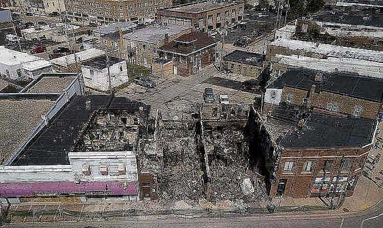 kenosha or kosovo shocking images reveal destruction after race riots leave buildings in ruins