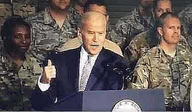 video surfaces of biden calling troops stupid bastards when they wont clap